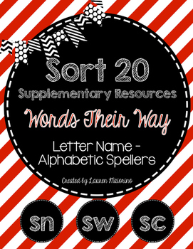 Sort 20 Supplementary Resources- Words Their Way- Letter Name Alphabetic Stage