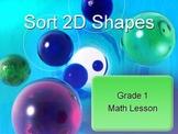 Sort 2D Shapes Math Lesson Grade 1