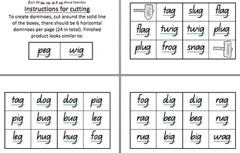 Sort 30 Dominoes- Words Their Way Letter Name Alphabetic