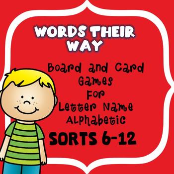 Sort 6-12 Words Their Way Games!