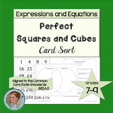 Perfect Squares and Cubes Card Sort