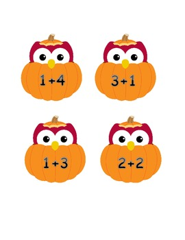 Sort Addition Facts ~ Sums to Five