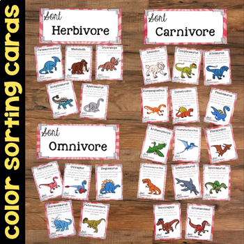 Sort Extinct Animal Eaters - Plants & Animals Long Gone Science Stations