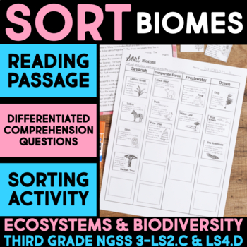Sort Animals into Biomes - Ecosystems and Biodiversity Science Station