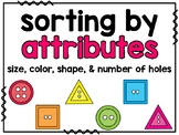 Sort Buttons by Attributes (Interactive, Hands-On Centers)