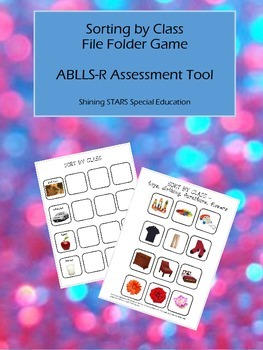 Sort By Class - ABLLS-R File Folder / Autism Teaching Tool / Sorting Activity