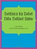 Sort By Color File Folder Game