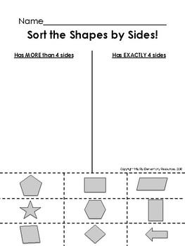 Sort By Sides {2nd Grade Geometry!}