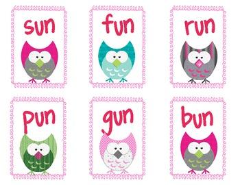 Sort CVC words - Owls