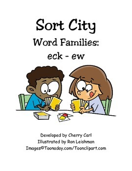 Sort City e Word Families from -eck to -ew