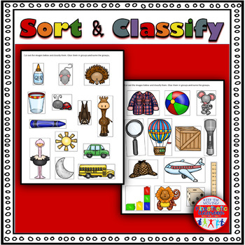 Sort & Classify Worksheets: Higher-Order Thinking