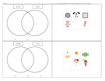Sort & Classify-Venn diagrams