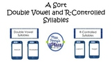 Sort Double Vowel and R-Controlled Syllables
