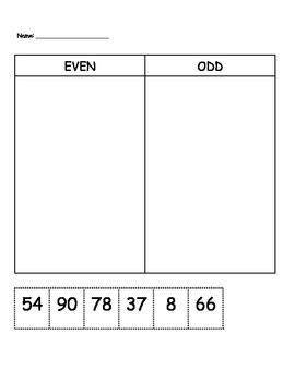Sort Even and Odd Numbers