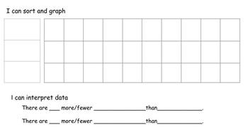Sort, Graph, and Interpret Data with Sentence Frames Template