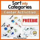 Sort Into Categories Activities Freebie