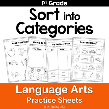 Sort Into Categories Common Core Practice Sheets L.1.5.A