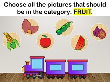 Sort Into Categories Interactive PowerPoint