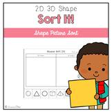 Sort It!: 2D 3D Shape Picture Sort