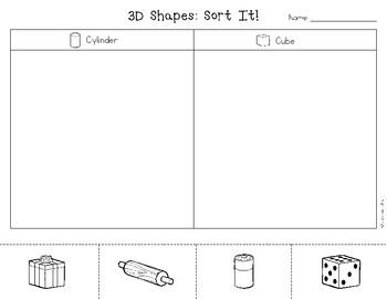 Sort It!: 3D Shape Picture Sort