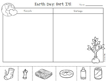 Sort It!: Earth Day Recycling Picture Sort