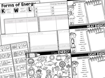 Sort-It! Forms of Energy (Heat, Light, Sound)
