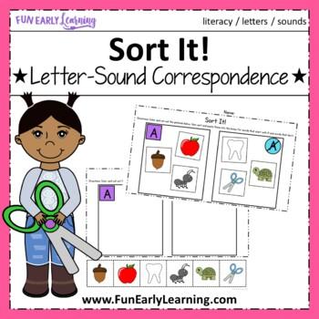 Sort It! Letter-Sound Correspondence - No Prep Interactive Worksheets