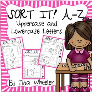 Sort It! Letters A-Z ~ Lowercase and Uppercase Capital Letters
