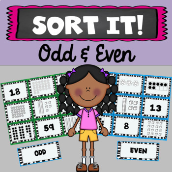 Sort It! Odd & Even Numbers Concept Sorts (Double Digit & Numbers 1-20)