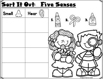 Sort It Out: 5 Senses Cut and Paste