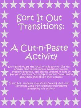 Sort It Out - A Cut & Paste Activity