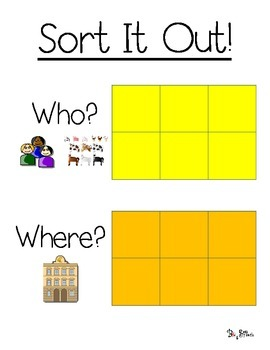 Sort It Out! And More!: Who and Where (Community Helpers and Common Places)