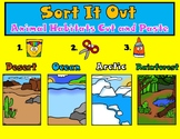Sort It Out:  Animal Habitats Cut and Paste Activity