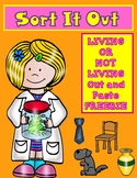 Sort It Out:  Living or Not Living Cut and Paste FREEBIE