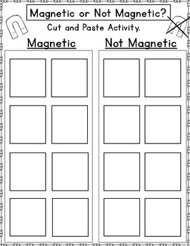 Sort It Out: Magnetic or Not Magnetic Cut and Paste
