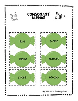 Sort It Out! Spanish Consonant Blends with bl and br