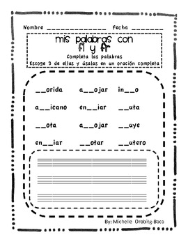 Sort It Out! Spanish Consonant Blends with fl and fr