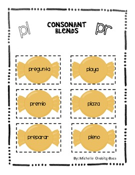 Sort It Out! Spanish Consonant Blends with pl and pr