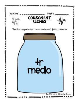 Sort It Out! Spanish Consonant Blends with tr: tra, tre, tri, tro, tru