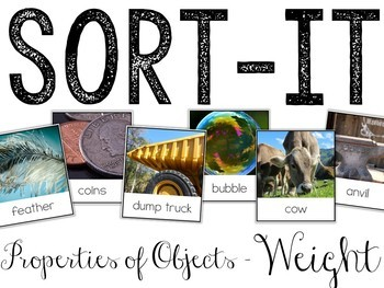 Sort-It! Weight (Properties of Objects)