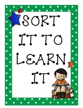 Sort It to Learn It!