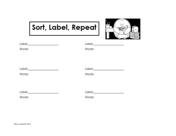 Sort Label Repeat - Vocabulary Strategy