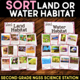 Sort Land or Water Habitats - Second Grade Science Stations