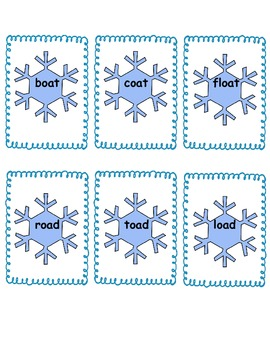 Sort Long O in the Snow! (Winter-themed word sort)