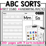 Back to School Beginning Sound ABC Sorts (NO PREP!)