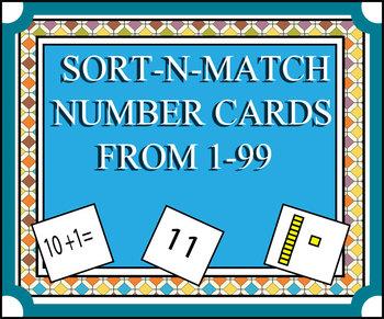 Sort-N-Match Number Cards 1-99