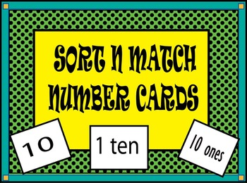 Sort-N-Match Number Cards by 10's