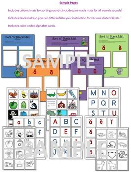 ABC Alphabet Sort 'n' Stack: A phonemic awareness/initial sound sorting activity