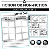 Fiction and Non-Fiction Text Features Sort