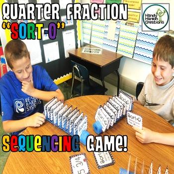 Quarter Fractions Sorting Game